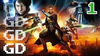 Star Wars The Old Republic Jedi Knight Gameplay Part 1 - Intro - SWTOR Let