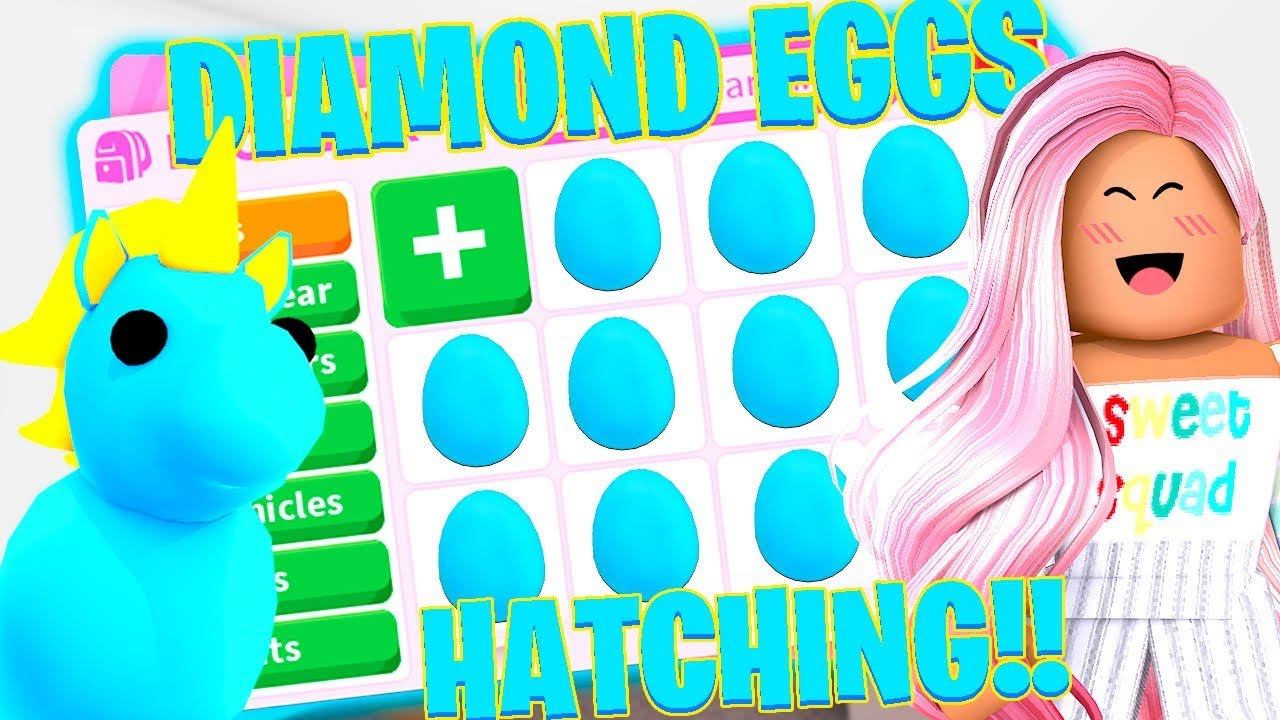 I HATCHED A DIAMOND EGG in ADOPT ME! How Long Does It Take To Get The Diamond Egg (Roblox)