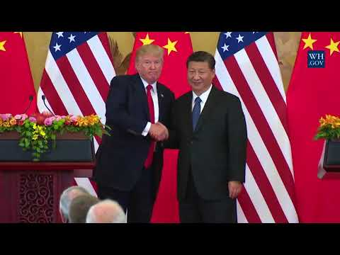 President Trump Delivers a Joint Press Statement with President Xi Jinping