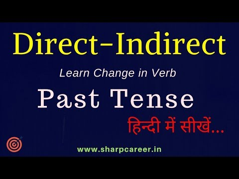 Learn Direct Indirect Narration | Direct And Indirect Speech - Past Tense | Learn English Grammar