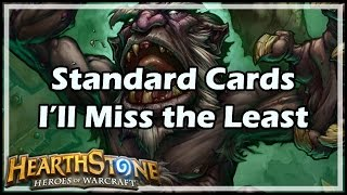 [Hearthstone] Standard Cards I'll Miss the Least