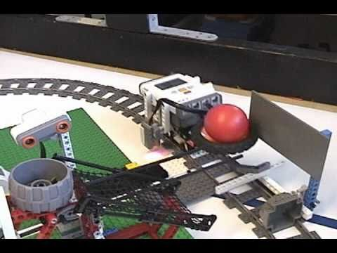 Lego robots playing ball