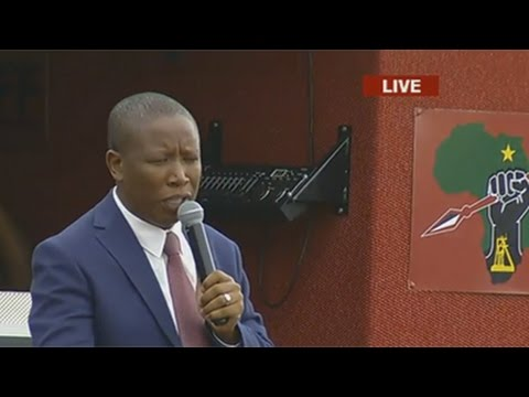 Malema addresses supporters after appearing in court, 7 November 2016