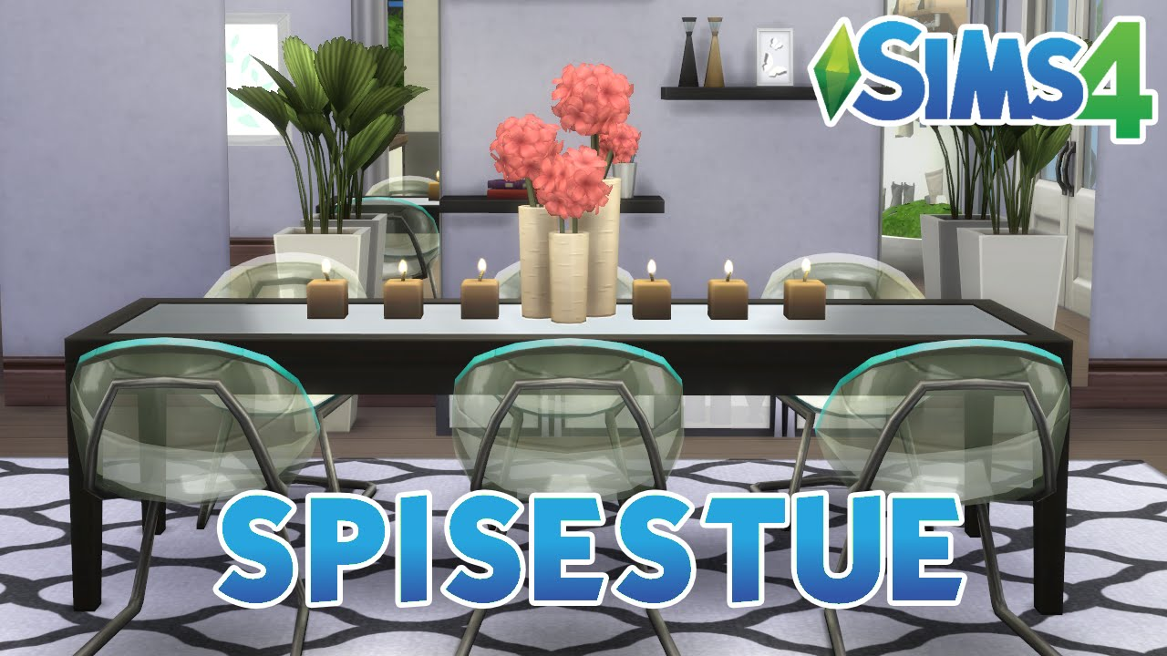 The Sims 4 - Room Build (#1.7) Spisestue & badeværelse - YouTube