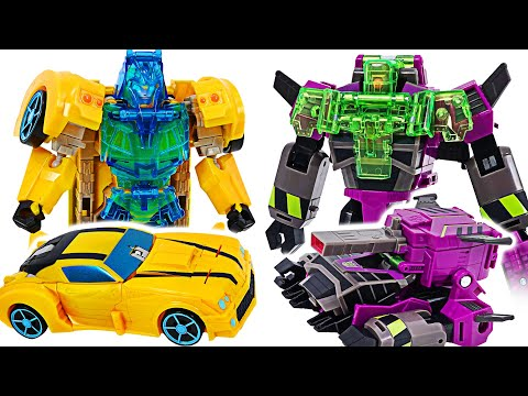 Transformers Battle For Cybertron Evergon Armor Bumblebee VS Clobber! | DuDuPopTOY