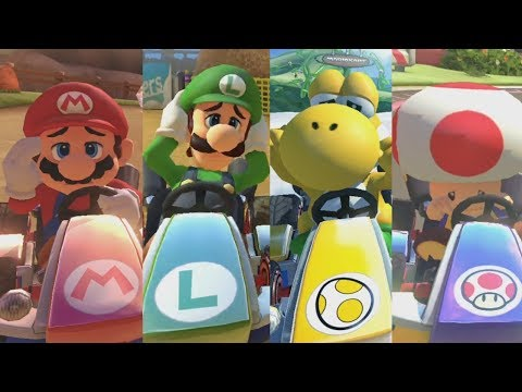 Mario Kart 8 Deluxe - All Characters' Losing Animations (Karts)