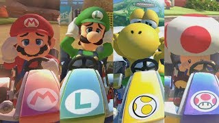 mario kart 8 deluxe all characters losing animations karts