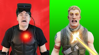 Fortnite VR But I Can Feel Pain.. (Haptic Suit)