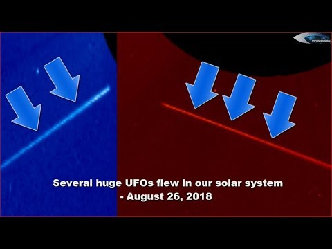 nouvel ordre mondial | Several huge UFOs flew in our solar system - August 26, 2018