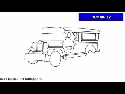 How To Draw Jeepney Of The Philippines Youtube