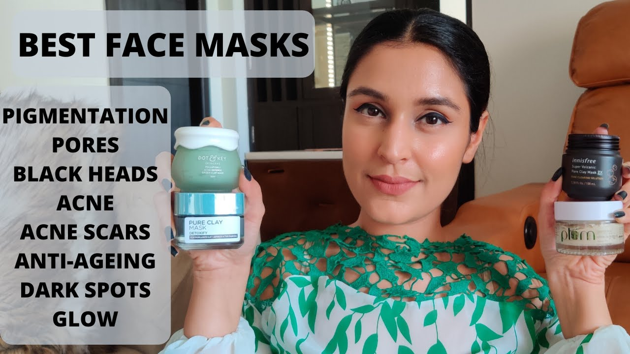 Best Face Masks For Clear Skin For Pigmentation Acne Pores Blackheads Glow More Chetali Chadha Youtube