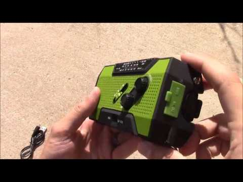 RunningSnail Solar Crank Weather Radio For Emeregency