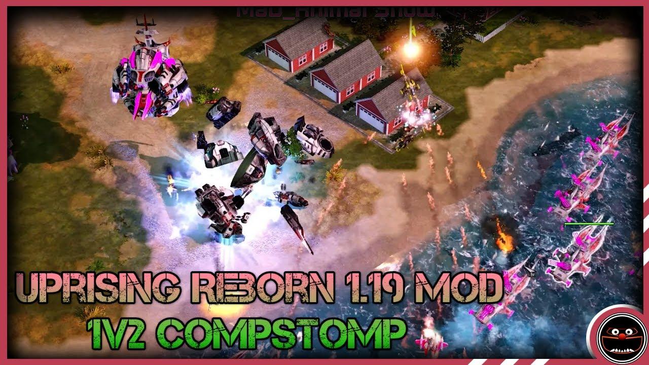 C&C Red Alert 3 Uprising Reborn 1.19 Mod 1v2 Compstomp Soviet Union v Empire of the Rising Sun (4K)