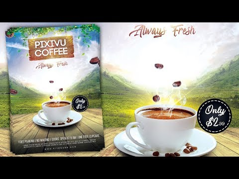 How to Design a Coffee Promotion Flyer - Photoshop Tutorial