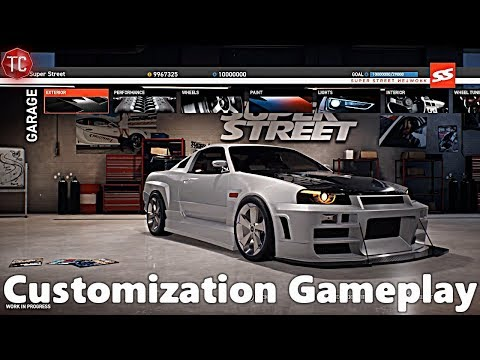 Super Street The Game: CUSTOMIZATION GAMEPLAY!! FULL ANALYSIS!