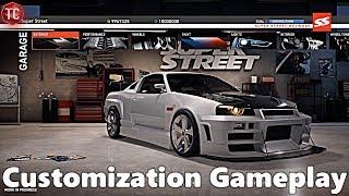 Super Street The Game: CUSTOMIZATION GAMEPLAY!! FULL ANALYSIS!