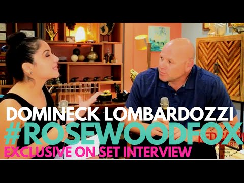 Dominick Lombardozzi   on set with FOX's Rosewood Cast & Creators RosewoodFOX