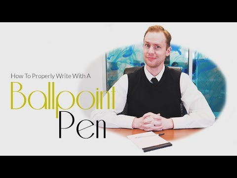 how to hold a pen properly