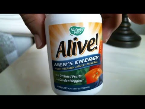 NATURE'S WAY ALIVE Men's Multi-Vitamin and Mineral Supplement