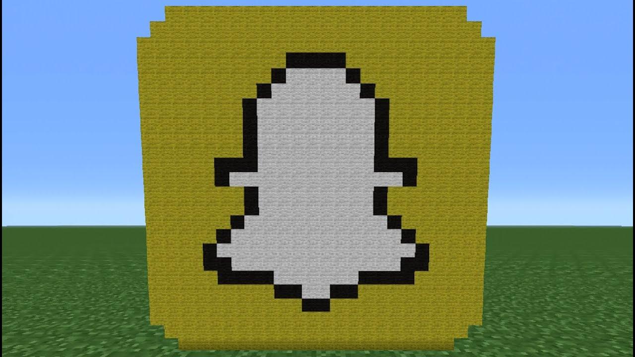 Minecraft Tutorial: How To Make The Snapchat Logo - YouTube