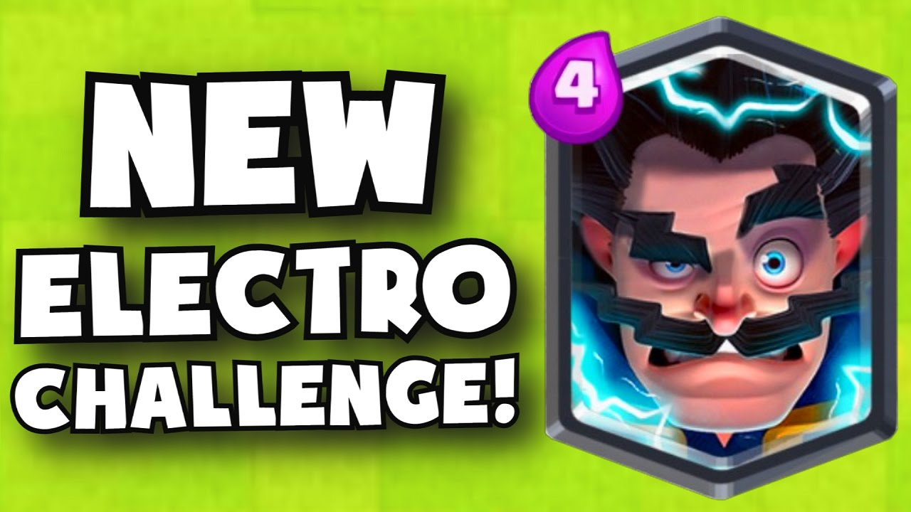 new electro wizard challenge in clash royale unlock new