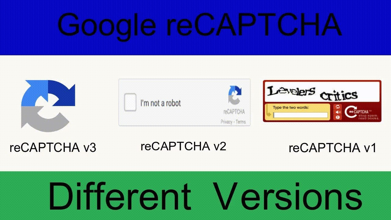 Google reCAPTCHA Different Versions | Google reCAPTCHA v2 vs v3 | Invisible  reCAPTCHA Demo