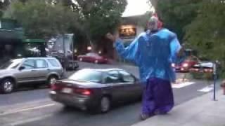 Giant Clown Terrorizes Portland, Oregon