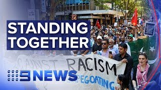 Thousands rally in Melbourne to support Muslim community   Nine News Australia