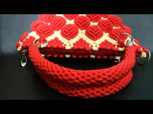 Tutorial membuat handle tas tali kur bentuk bulat