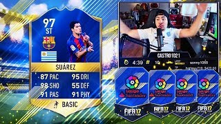 97 tots suarez in a pack 96 tots as well fifa 17