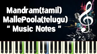 Mandram Vandhu /Malle Poola/Piano Notes /Midi File /Karaoke