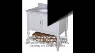 Beverly 36-inch Bathroom Vanity (carrera/white)