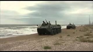 Боевое слаживание подразделений морских пехотинцев Каспийской флотилии