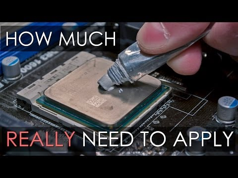 Thermal paste: How much really need to apply and how to do it correctly? Как наносить термопасту?