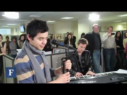David Archuleta Sings 'The First Noel' in the Forbes Newsroom
