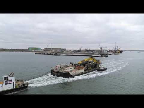 Port expansion – LINDØ port of ODENSE – progress of construction I