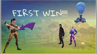 getting a default his first fortnite win!!!