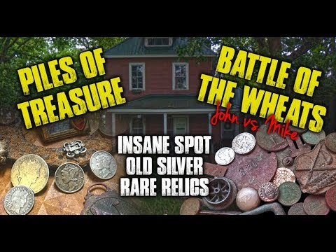 Metal Detecting A Killer Permission, Old Silver Coins, Epic Wheat Penny Battle!!!