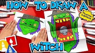 How To Draw A Scary Witch Folding Surprise