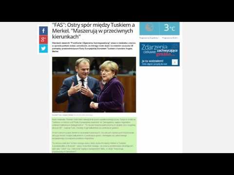 Tusk na dżihadzie przeciwko opętanej i szalonej islamizatorce   Merkel