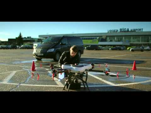 Delivery Drone. High-Level RPAS conference opening (Riga, 2015)