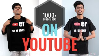 What people think about my channel || 1K subscribers special ♥️🙏 || RB KI VINES