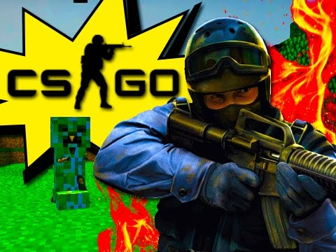 CS:GO - Minecraft In CSGO?  (Funny Moments And Mini Games!)
