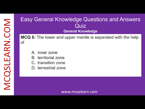 Easy General Knowledge Questions and Answers - MCQsLearn Free Videos