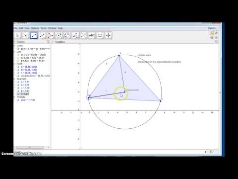 Consruct a Circumscribed circle with Geogebra