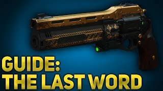 How to Use: The Last Word (Controller) - Destiny 2 Black Armory