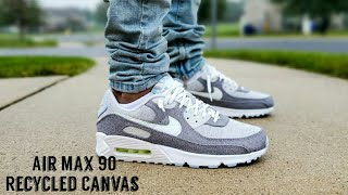 Air Max 90 NRG Crater / Recycled Canvas Unboxing & On Feet Nike ...