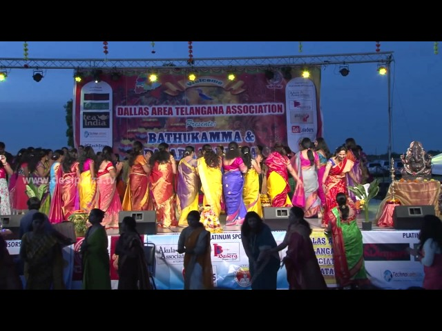 Ladies Bathukamma Dance at DATA Bathukamma & Dasara Panduga 2016