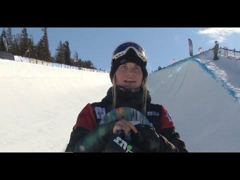 Maddie Mastro 3rd - SB Halfpipe - Mammoth Grand Prix 2016 - YouTube