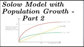 Solow Swan Model with Population Growth - Part 2 of 2
